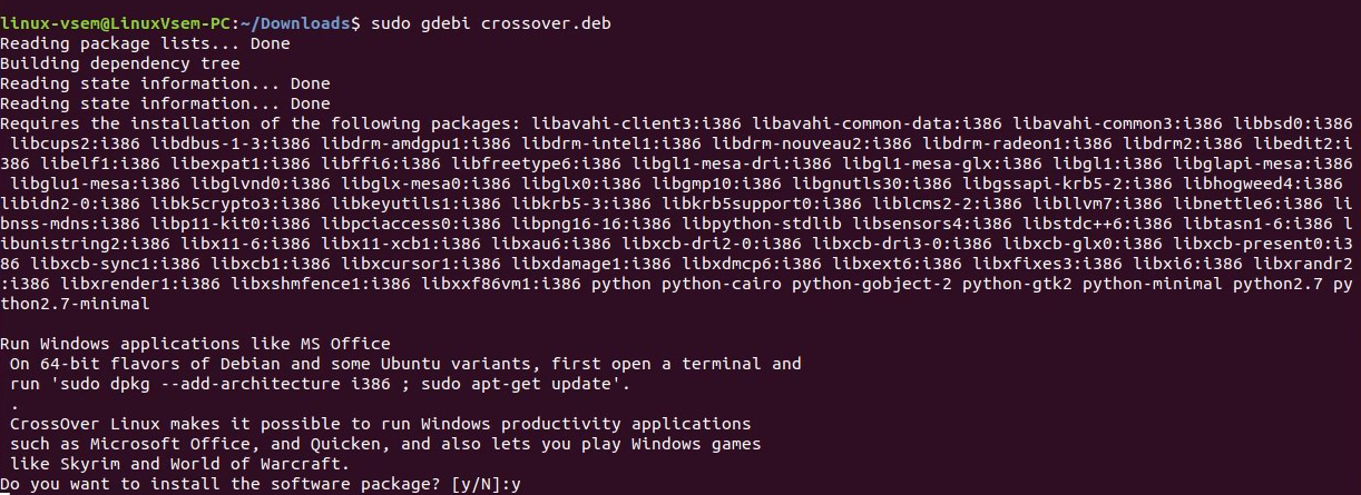 wget http://crossover.codeweavers.com/redirect/crossover.deb Установка CrossOver