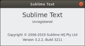 Окно sublime text